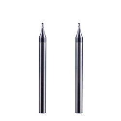 Mircro 2 flutes end mill for aluminum copper siliver